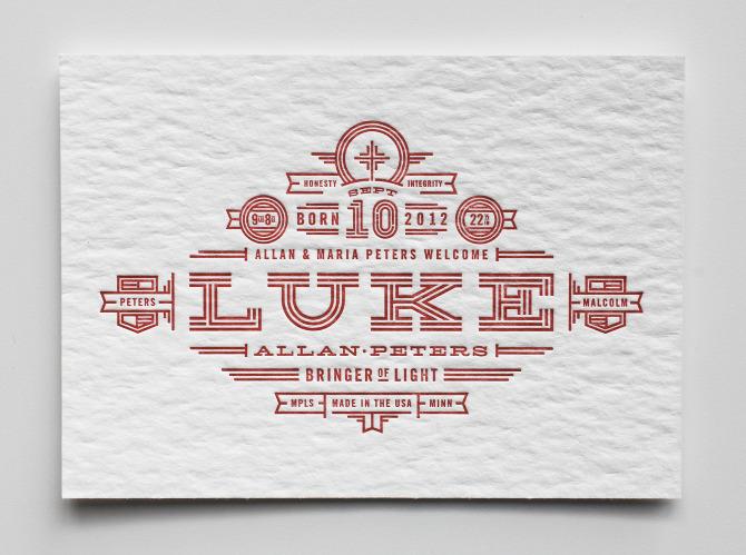 Luke's Birth Announcement - Allan Peters