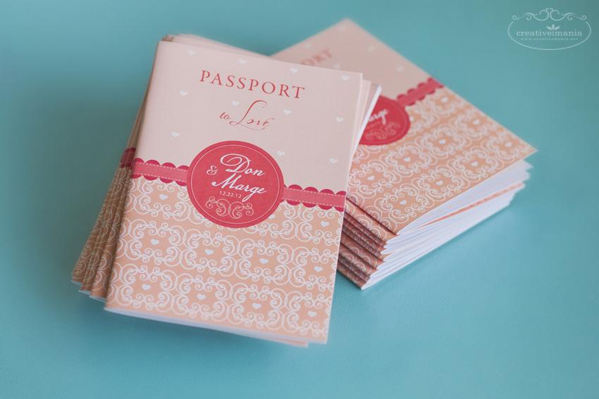 Passport Wedding Invitation Creativemania Photography and Design – Passport Style Wedding Invitation